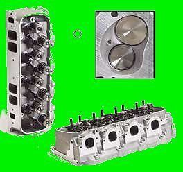 BBC Big Block Chevy Rectangle Aluminum Heads 454 502 Complete 360cc