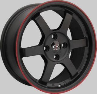 16 ROTA GRID BLACK RIMS WHEELS 16x7 +40 4x100 CIVIC FIT MINI COOPER