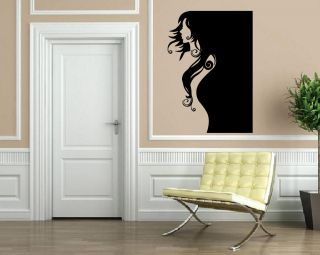 Profile Sexy Woman Body Outline Decor Wall Art Mural Vinyl Decal
