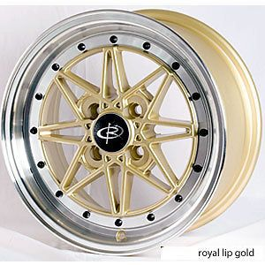 16 ROTA FLASHBACK GOLD RIMS WHEELS 16x7 +40 4x100 CIVIC INTEGRA FIT XB