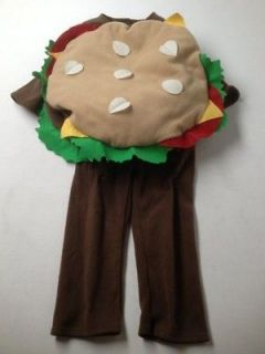 old navy plush hamburger cheeseburger costume 2t 3t time left