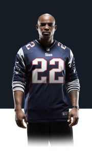 Stevan Ridley Mens Football Home Game Jersey 468960_437_A_BODY