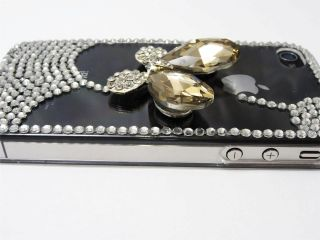 3D Butterfly Deluxe Rhinestone Diamond Bling Back Case Cover for