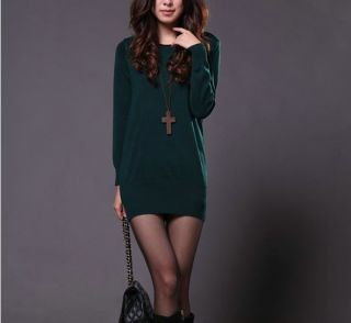New Fashion 8 Colors High Quality Womens Long Sleeve Cotton Sweater