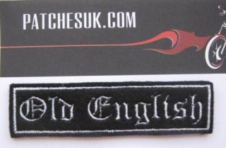Line Custom Personalised Biker Patch Old English Font