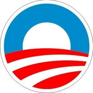 Barack Obama Round Sticker Campaign Logo 2008 3 x 3
