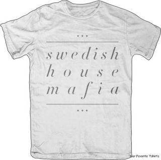 Swedish House Mafia Underline Name Officially Licensed Slim Fit Shirt