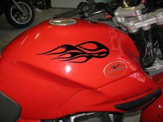 Vinyl Motorcycle motorbike Flame Tank or Helmet Decal Set 29