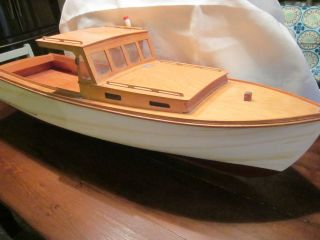 Vintage Large Handmade Wooden Model Lobster Boat 3 Feet Long