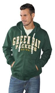 Green Bay Packers Green Sanders Full Zip Hooded Sweatshirt