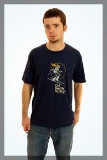 Vintage 80s Ski Death Valley Skeleton T Shirt L