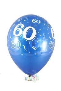 60 Birthday Latex Balloons 12 60th Birthday Party