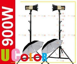 900W Portable Strobe Studio Flash Lighting Kit Wireless Embeded
