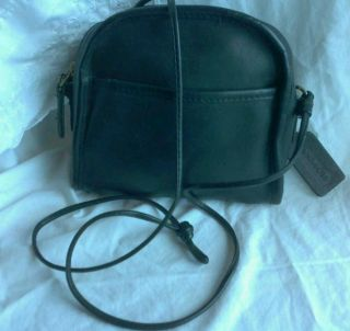Nice Vintage Black Coach Abbie Cross Body Purse Shoulder Bag 9017