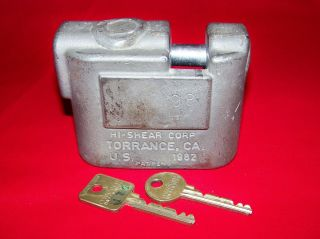 Complete Medeco Hi Shear High Security Padlock Keys Torrance