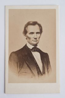 CDV Carte De Visite Photograph President Abraham Lincoln American