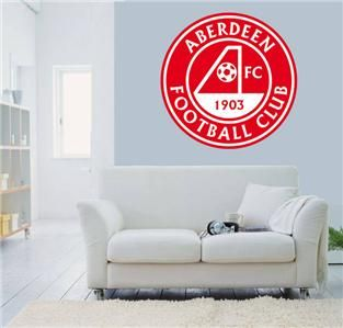 Aberdeen FC Scotland WALL STICKER logo Removable Soccer Decal 24in