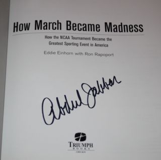KAREEM ABDUL JABBAR SIGNED AUTOGRAPHED   HOW MARCH BECAME MADNESS BOOK