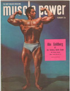 Muscle Power Bodybuilding Fitness Magazine Abe Goldberg 2 52