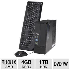 Acer AX3400G U4802 AMD Dual Core Athlon II X2 255 3 1 GHz 4GB 1TB