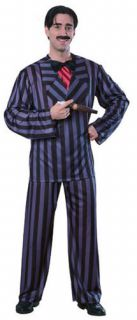 Addams Family Gomez Halloween Costume Man Sz L XL 2XL Jacket Shirt Tie