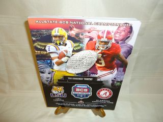 NATIONAL FOOTBALL BCS CHAMPIONSHIP   PROGRAM   LSU TIGER   BAMA ROLL