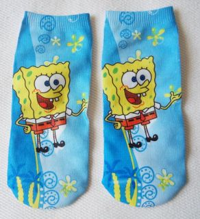 Brand New Cute Spongebob Ankle Socks Adult Kids 5 8