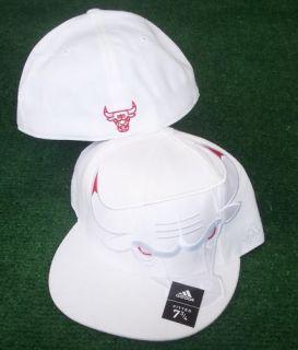 Chicago Bulls Hat Cap Authentic Adidas Fitted 7 5 8