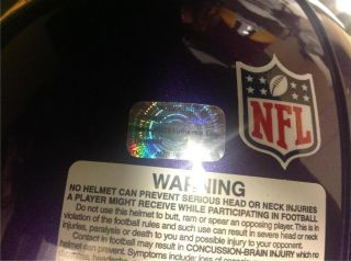 Adrian Peterson Signed Vikings Proline Helmet w Inscriptions AD28 Holo