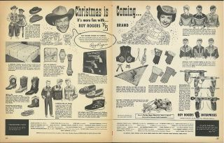 Christmas is coming Roy Rogers Enterprises toy ad 1955 holsters