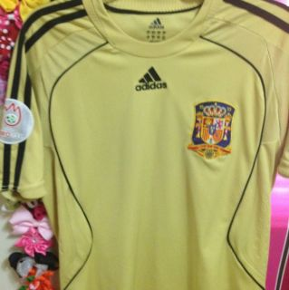 Adidas Spain AWAY SHORT SLEEVE SOCCER JERSEY EURO 2008SIZE M 9 Torres