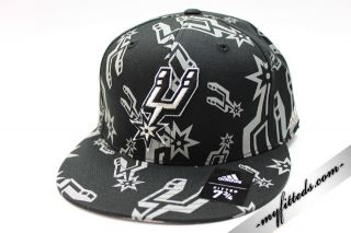 Adidas San Antonio Spurs Official NBA Fitted Cap New
