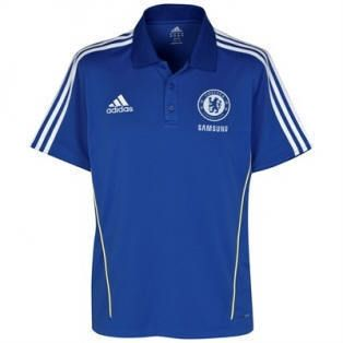 New Adidas Chelsea Football CFC ClimaLite Blue Polo Shirt Top M L XL