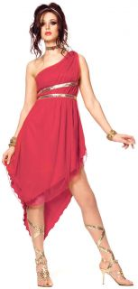 Ruby Red Hot Goddess Costume Spartacus Roman Greek Womens Small