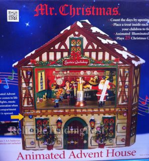 Mr. Christmas Animated Musical Advent House Calendar Light Music Songs