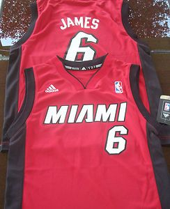 Heat Lebron James Adidas Youth Replica NBA Basketball Jersey