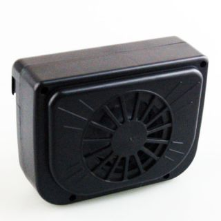 new solar powered car auto cool air vent fan cooler