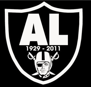 Al Davis Tribute T Shirt Oakland Raiders Raider Nation Silver and