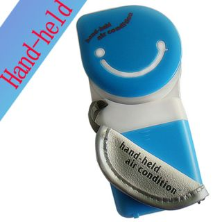 USB Mini Portable Hand Held Air Conditioner Cooler Blue