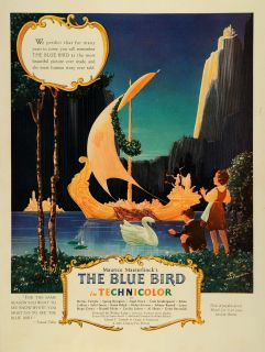 1940 Ad Fantasy Film The Blue Bird 20th Century Fox Picture Cartoon