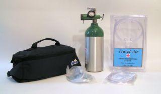 Portable Oxygen System  Home Travel Medical 9CF Cylinder Lasts 8 Hours