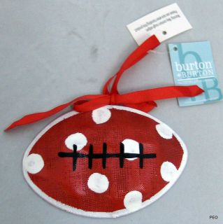Alabama Crimson Tide Mesh Football Ornament Roll Tide Bama Bear Bryant