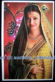 Bollywood Actor Aishwarya Rai India EX Miss World RARE Old Post Card