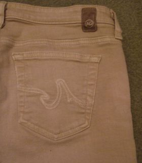 AG Adriano Goldschmied womens ladies jeans 29 boot cut beige low rise