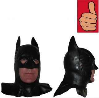 Batman Forever Adult Full Latex Rubber Cowl Val Kilmer Movie