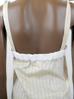 paul joe womens ivory silver boxy dress 36 $ 332 new