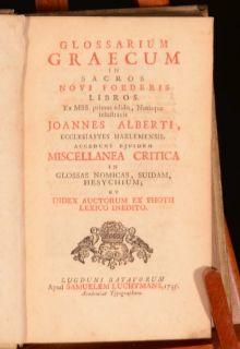 Graecum in Sacros Novi Foederis Libros EX MSS Joannes Alberti