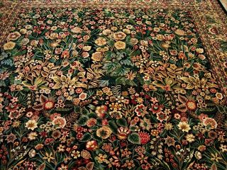 Exclusive Flowers Garden Hand Knotted Fine Carpet 10x14