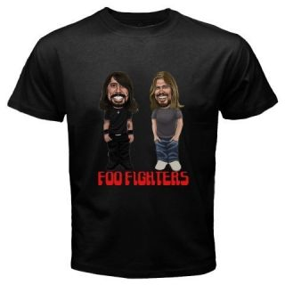 Grohl Funny Cartoon Rock Band Mens Black T Shirt Size s 3XL