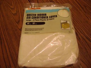 King Quilted Indoor Air Conditioner Cover NIP Size 20 x 28